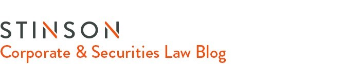 Stinson - Corporate & Securities Law Blog