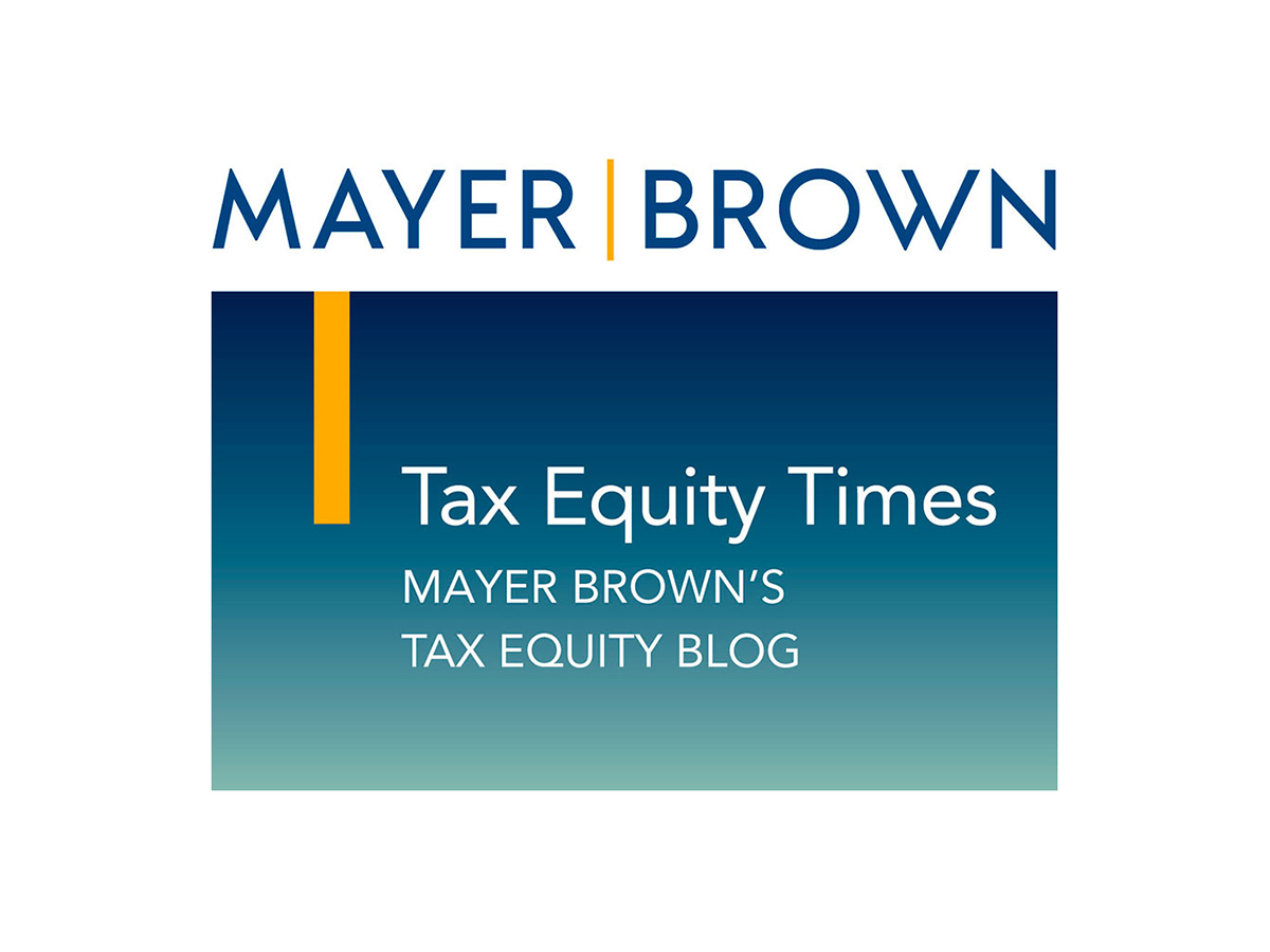 Mayer Brown - Tax Equity Times