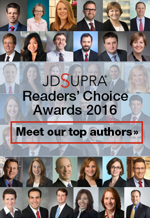 JD Supra Readers' Choice 2016 Awards