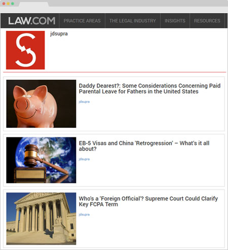 Law.com news and professional insights