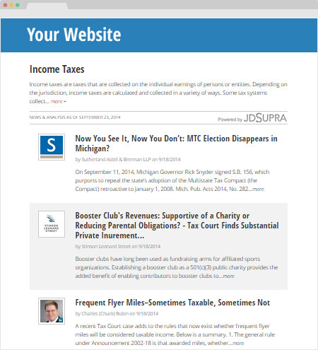 Your website Taxes